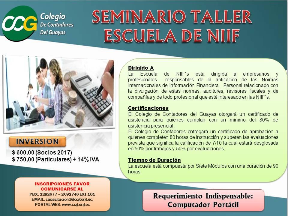 ESCUELA DE NIIF ANUNCIO